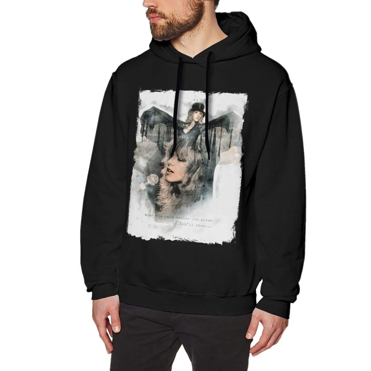JUDE BOYLE Stevie Nicks Sweatshirts for Men Hoodies Black