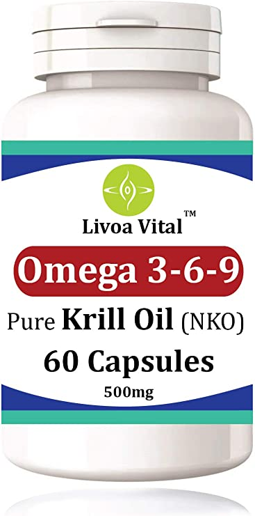 Krill Oil Capsules 500mg 60 Softgels With Antioxidant Sustainably Fished 1000mg Per Serving Epa Dha Fast And Efficient Absorption With Astaxanthin For Healthy Heart Brain And Vision Amazon Co Uk Health