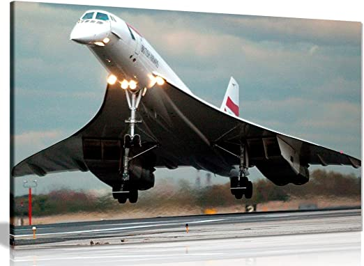 "Concorde Airliner Supersonic Aircraft Aviation Painting Art Print 17/"" Print"