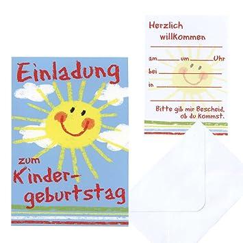 5 Einladungskarte Kinder Geburtstag Kindergeburtstag Sonne