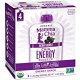 Mamma Chia Organic Energy Squeeze Snack, Berry Burst, Pack of 24