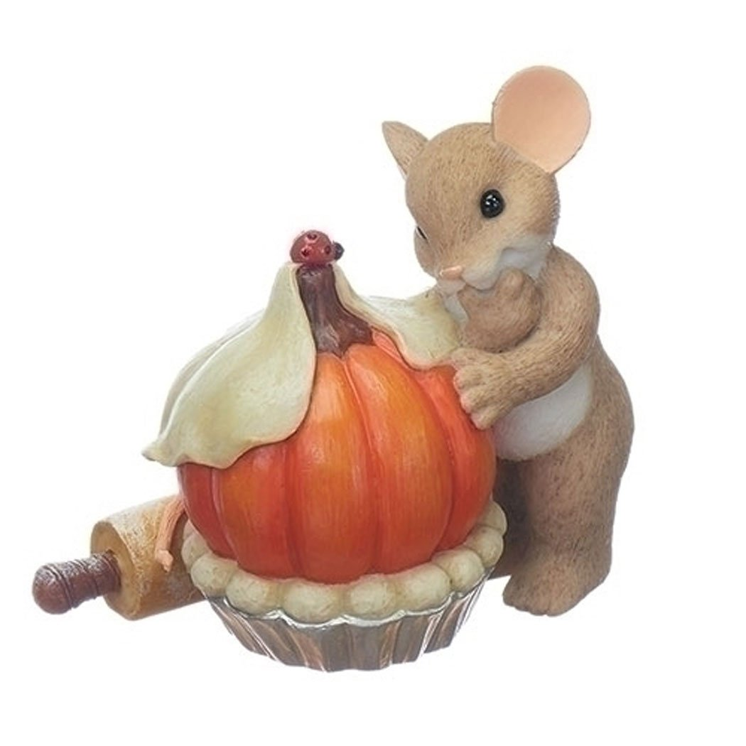 Enesco Halloween Charming Tails Pumpkin Pie Figurine