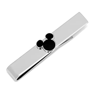 3368425ab0b2 Image Unavailable. Image not available for. Color: Disney Black Mickey Mouse  Silhouette Tie Bar ...