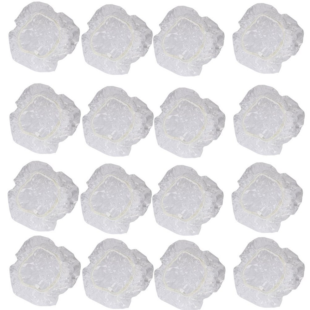 WINOMO 100 Stück Einweg Durchsichtige Dusche Ohr Abdeckung Gehörschutz