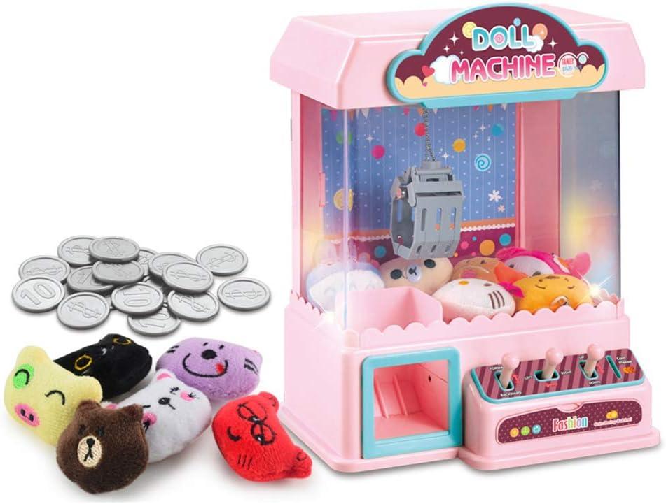 Coospy Máquina de Garra,Carga USB,Mini Consola de Juego,para Uso Doméstico Máquina Arcade Clásica con Luces y Efectos de Sonido con Muñecas Lindas,para Niños de 3+años