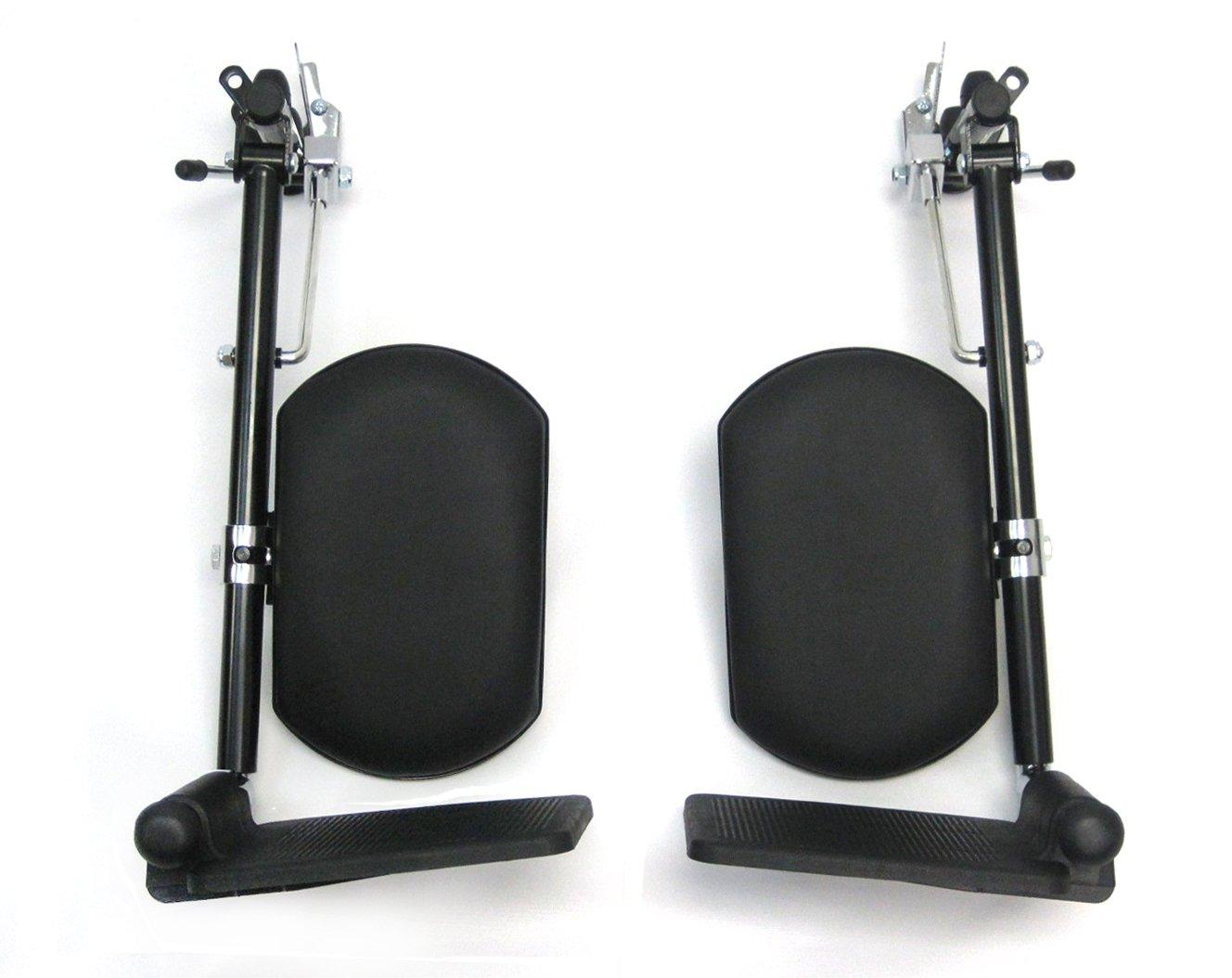 Karman Universal Elevating Legrest for Wheelchair, Black, INV Style by Karman