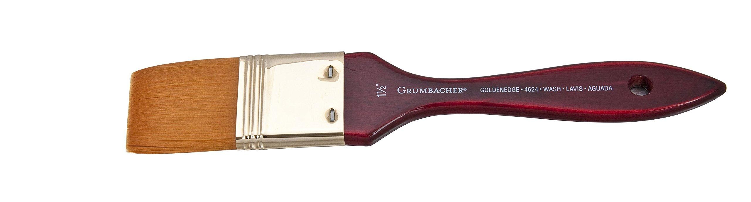 Grumbacher Goldenedge Golden Toray Wash Watercolor Brush, Synthetic Bristles, Size 1-1/2'' (4624.150)