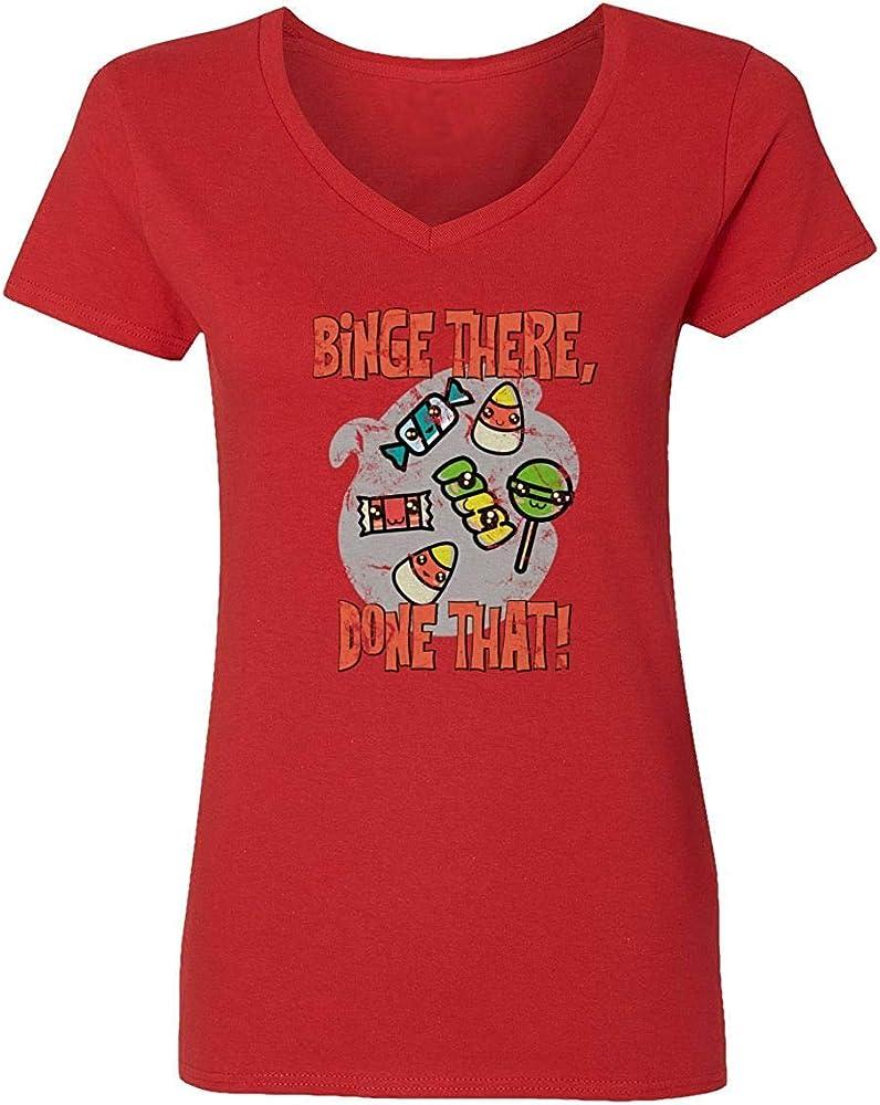 Nueva Camisa de la Novedad Que Trata la Camisa del Caramelo Que Estudia la Camiseta Vneck Divertida de Halloween del Estudio, M: Amazon.es: Ropa y accesorios
