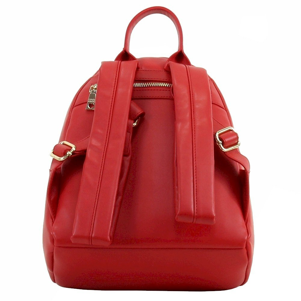 Love Moschino Women's Peace Red Leather Book Bag Backpack by Love Moschino (Image #2)