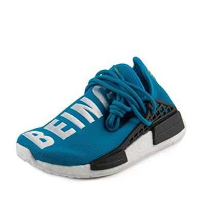 1385c2af64c4 Image Unavailable. Image not available for. Color  adidas Mens PW Human  Race NMD Blue White Nylon Size 5
