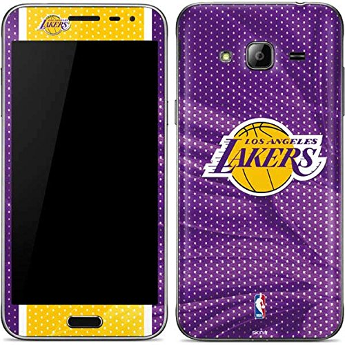 Skinit Los Angeles Lakers Home Jersey Galaxy J3 Skin - Officially Licensed NBA Phone Decal - Ultra Thin, Lightweight Vinyl Decal Protection ()