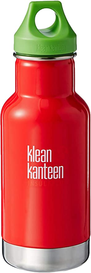 Kid Kanteen 12-Ounce Insulated Stainless Steel Bottle With Loop Cap