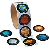 "100 ~ Solar System / Planets Stickers ~ 1.5"" ~ New / Shrink-wrapped"