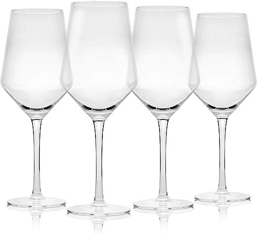 Juego de 4 copas de vino | Grandes copas de vino | Apto para ...