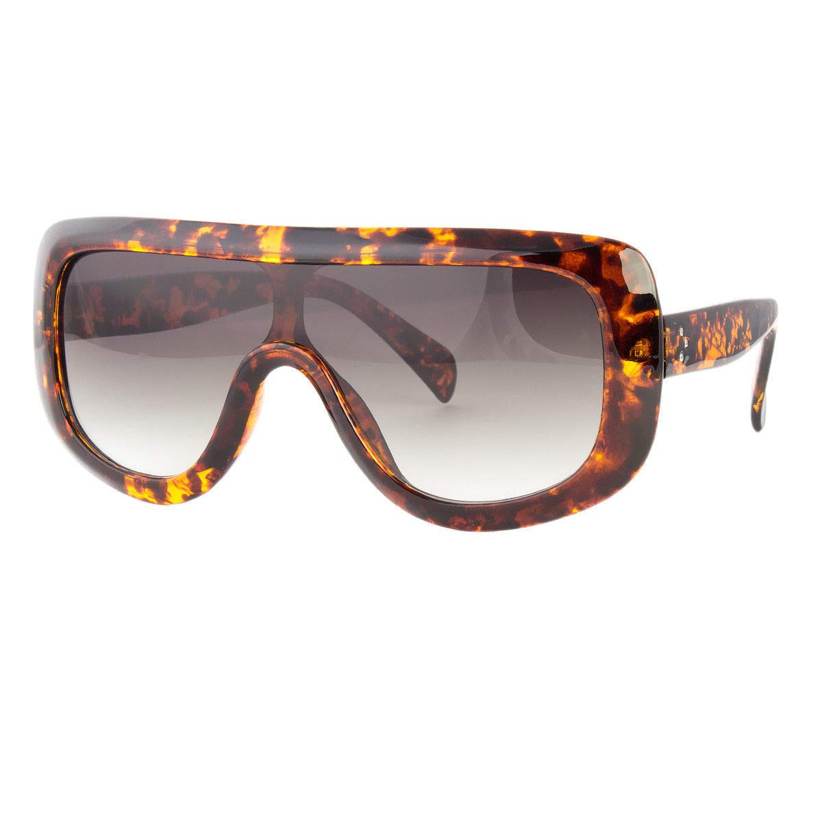 188453fbab1 Amazon.com  Large Oversized Square Sunglasses Gradient Lens Thick Retro  Frame Women Fashion  Clothing