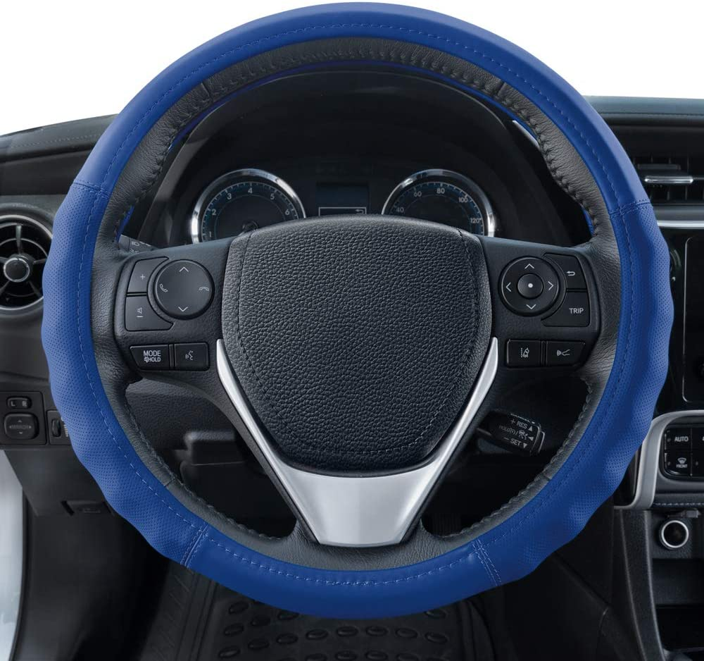 Motor Trend SW-809-BG Beige Classic Stitch Perforated Simulated Leather Steering Wheel Cover