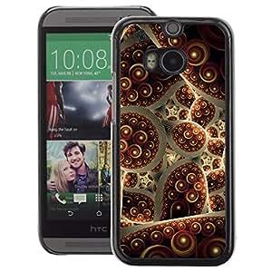 A-type Arte & diseño plástico duro Fundas Cover Cubre Hard Case Cover para HTC One M8 (Turkey Carpet Abstract Bubble)