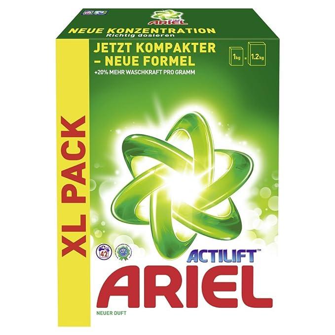 Ariel Detergente en Polvo XL Regular transporte Paquete 3.36 kg ...