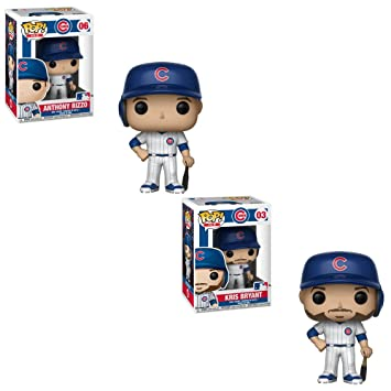 33eac73f08a Image Unavailable. Funko POP! MLB Chicago Cubs  Anthony Rizzo and Kris  Bryant Baseball Player Toy Action