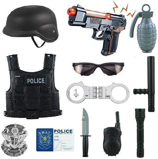 Kit de disfraz de policía para niños, 12 piezas, juego de rol de ...