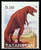 Megalosaurus, Dinosaurs, Prehistoric Animals -Handmade Framed Postage Stamp Art 21910AM