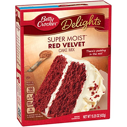 Betty Crocker Super Moist Cake Mix Red Velvet 15 25 Oz Box