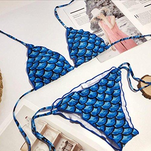 Sexy Mare Swimwear Blu Pezzi Donna Imbottito Da Bikini Costume Donne Due Da Pezzi Due Reggiseno Set Sexy Senza Up LiucheHD Push Stampa Bagno Estivo Spalline BSq7Uw