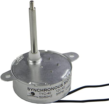 CHANCS TYC-40 DC 12V Synchronous Motor 5RPM Shaft 3.5CM For 12V Bttery Power