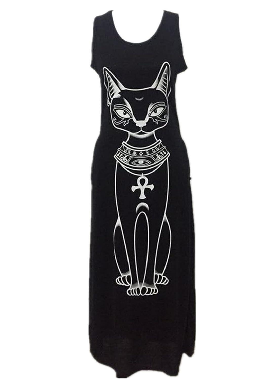 Fanessy Sommer ärmellos Kleid Casual Kleider T-shirts Rock sweatkleid