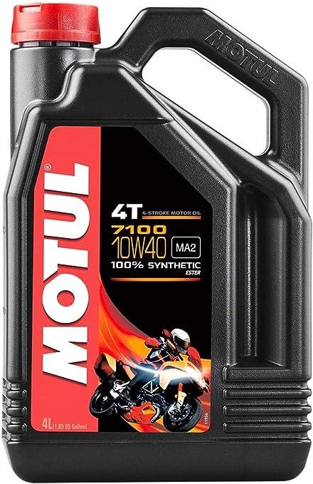 Motul 7100 4t Synthetic Ester Motor Oil 10w40 4l 836341 101371 By Motul Auto