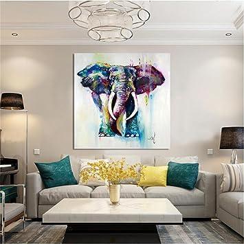 ZXP Malerei Der Modernen Kunst Handgemaltes ÖLgemäLde Elefant Tier Auf Der  Leinwand Schlafzimmer Wohnzimmer WäNde Hintergrund