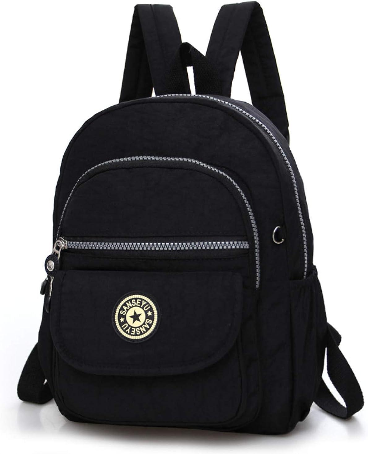 Women Mini Backpack Purse Nylon Small Backpack Shoulder Rucksack Girl Bag Travel
