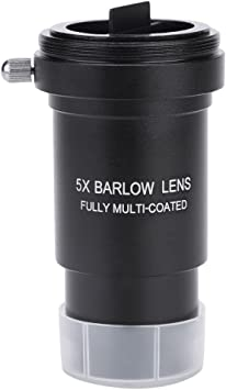 Lens with M42 x 0.75mm Thread for 31.7mm Telescopes Eyepiece 1.25 5X Barlow Lens