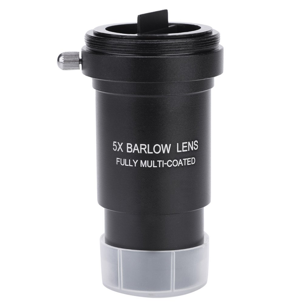 Oumij Multi-Coated 1.25'' 5X Barlow Lens M42 Thread for 31.7mm Telescopes Eyepiece for Astronomical Telescope Eyepiece Accept T Ring by Oumij