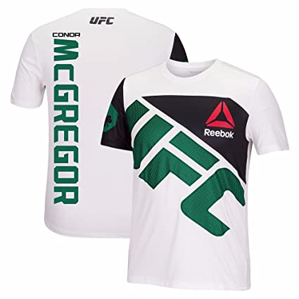 new product d19b8 8c7ab Reebok Conor McGregor UFC Fight Kit Official (White/Green) Walkout Jersey  Men's