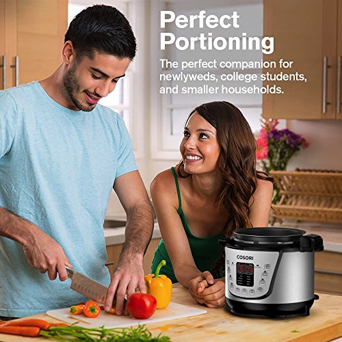 COSORI Mini 2.1 Qt 7-in-1 Multi-Functional Programmable Pressure Cooker, Slow Cooker, Rice Cooker, Sauté, Steamer, Yogurt Maker & Warmer, Includes Glass Lid, Sealing Ring and Recipe Book by COSORI (Image #1)