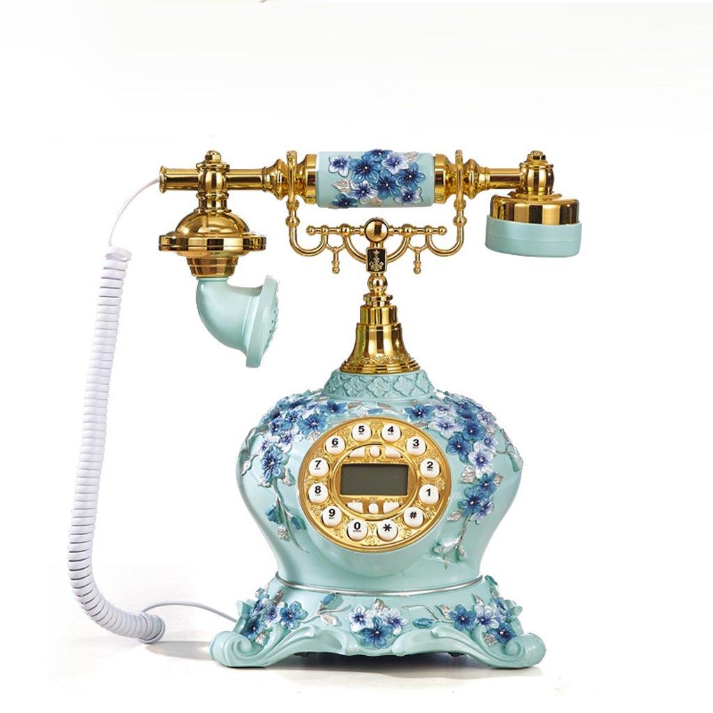 GQQ Wired Telephone Antique Telephone Fixed Base Machine Home Desktop European Machine Set Answer Machine (Resin, 2425.5CM)
