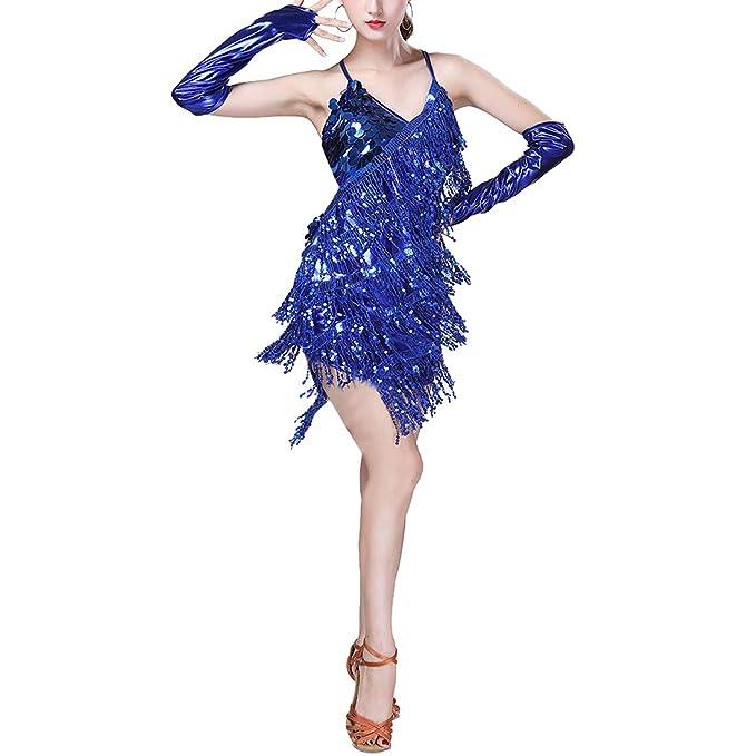 TAAMBAB Traje Latino Mujer Vestido de Baile Clásica ...