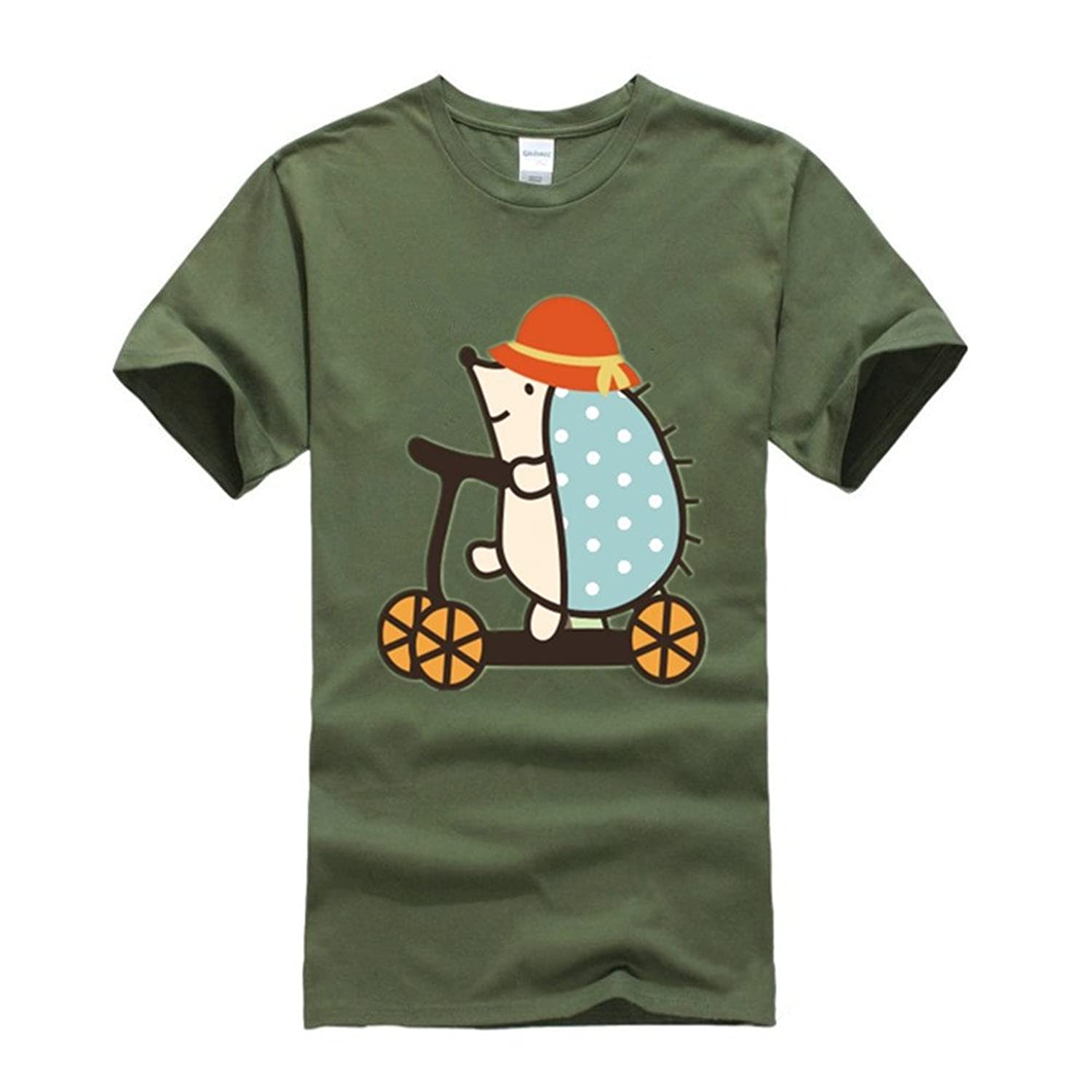 The Hedgehog Cycling Tv Show Series Lawn Green T-shirts
