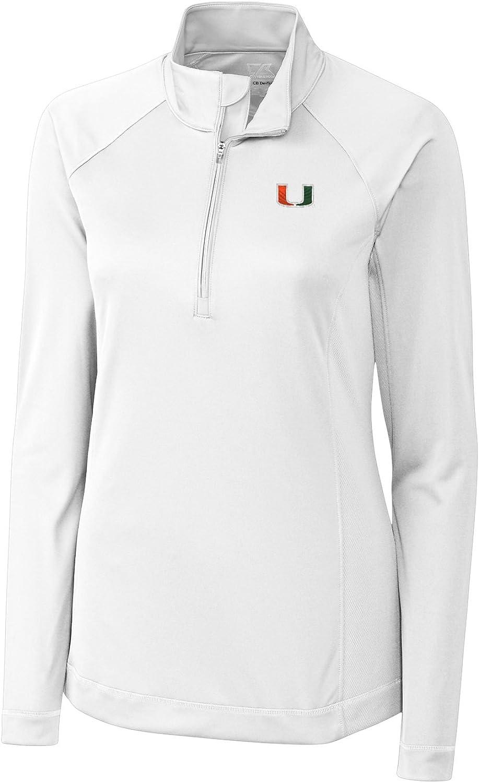 Cutter NCAA Women's Long Sleeve Evolve Half Zip Shirt