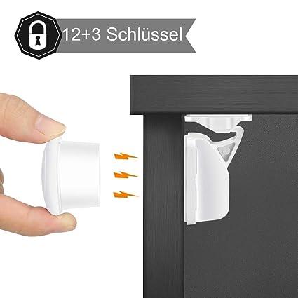 Cerraduras Magnéticas de Seguridad para Bebés y Niños - para Armario y Cajones - Fácil de