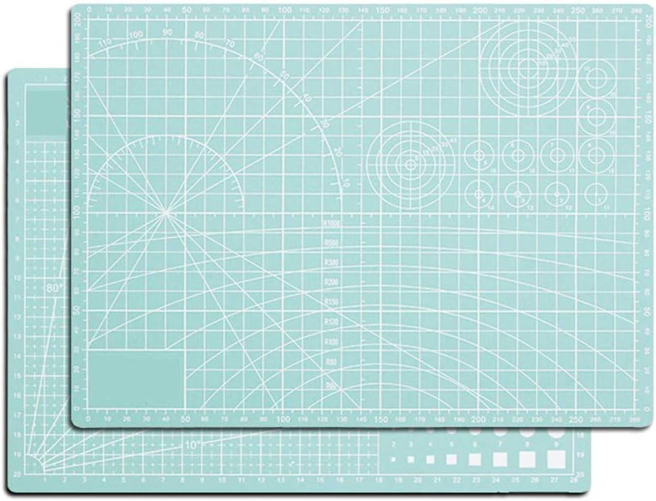 Ommda Schneidematte A1 Selbstheilend Werkstatt mit Doppelseitig cm und inch Angabe Cutting Mat Werkstatt Schneidematte Stoff zum N/ähen Quilt Basteln und Patchworken 3mm Dicke,Gr/ün,