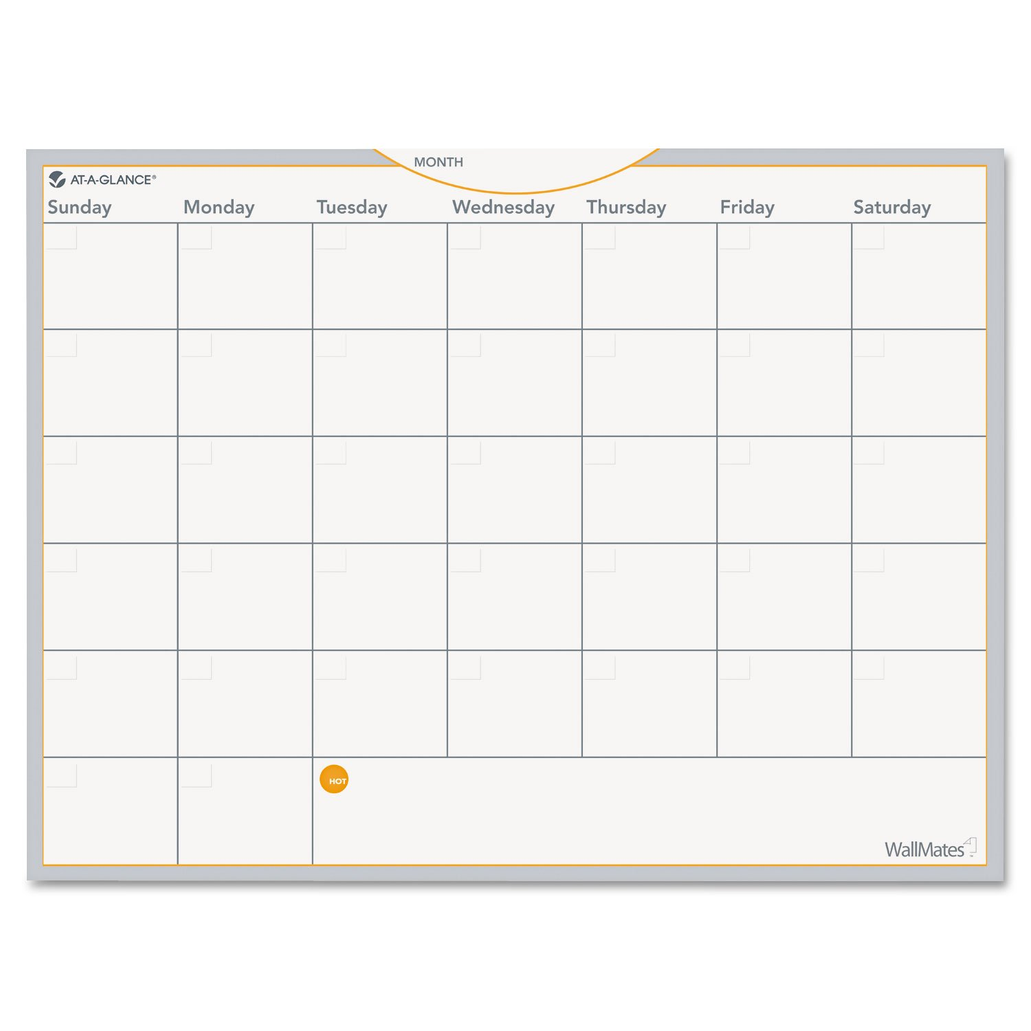 at-A-Glance AW502028 WallMates Self-Adhesive Dry Erase Monthly Planning Surface, 24 x 18 by AAGAW502028