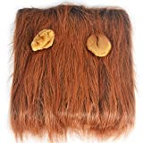 Pet Funny Lion Head Sets Of Wigs Hair Satsuma Large Dog Hat Headdress (Color : Brown)