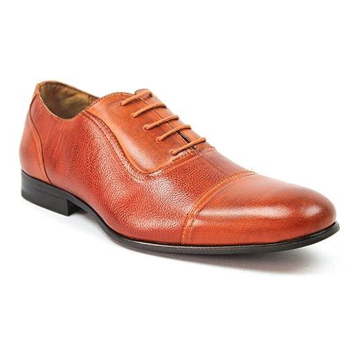 b8ef5db1f60c3c Amazon.com   Ferro Aldo Men's Brown Dress Shoes Cap Toe Lace up ...