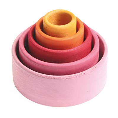 Cuencos multicolor apilables tonos rosa: Juguetes y juegos