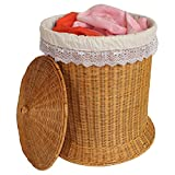 YZL/ Rattan woven hamper dirty clothes storage/laundry basket/baskets/finish storage/laundry basket/dirty barrel basket , yellow