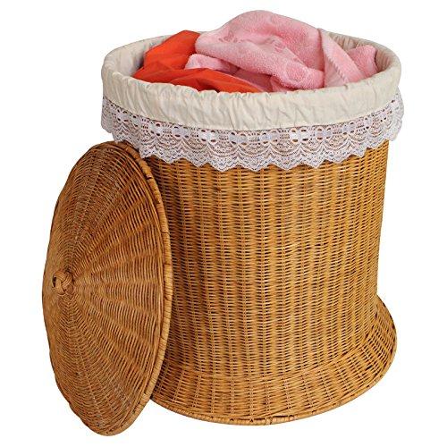 YZL/ Rattan woven hamper dirty clothes storage/laundry basket/baskets/finish storage/laundry basket/dirty barrel basket , yellow by KAIMENDAJI
