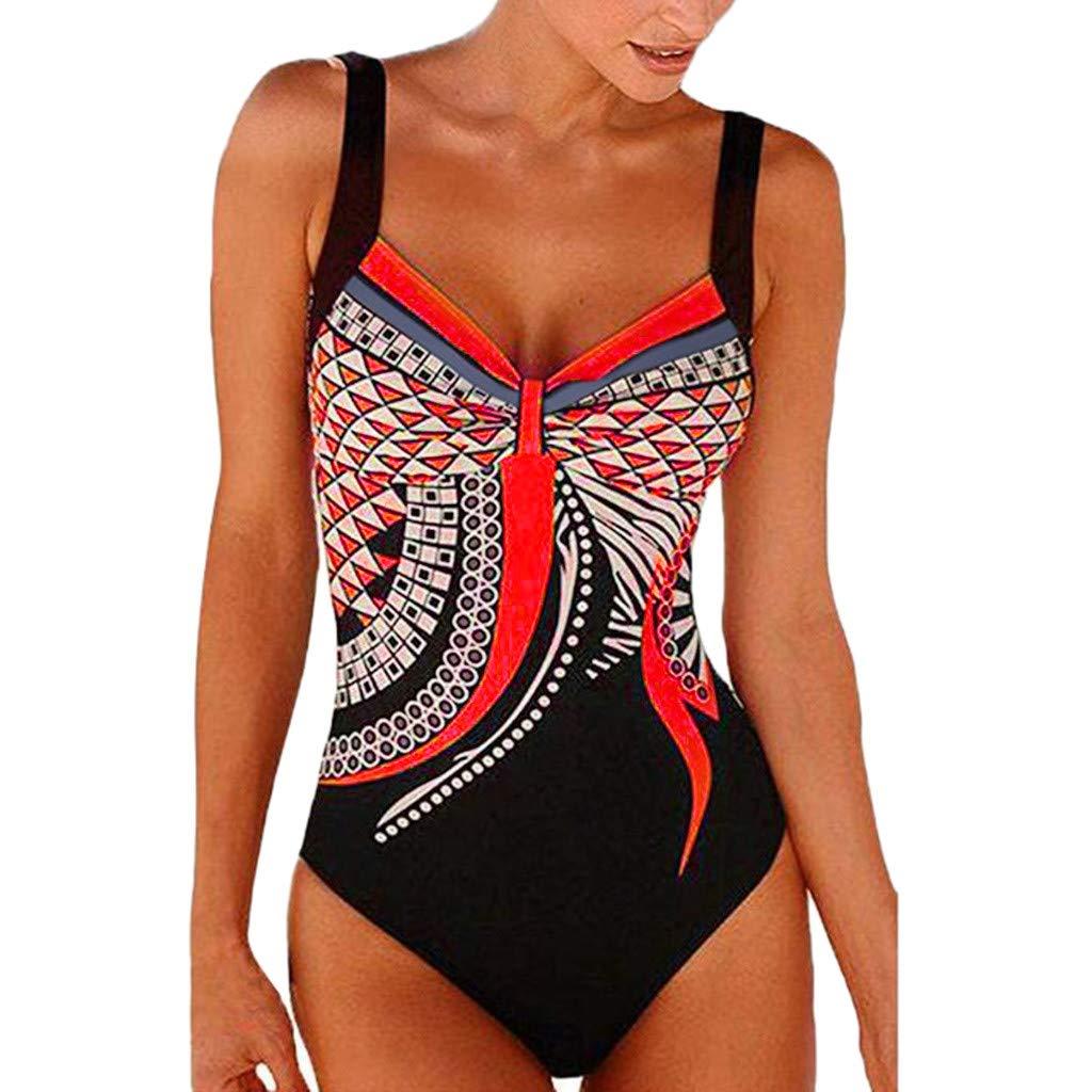 Fudule One Piece Swimsuit for Women Monokini Women's Swimwear Tummy Control Bodysuits Backless Bikini Bathing Suit