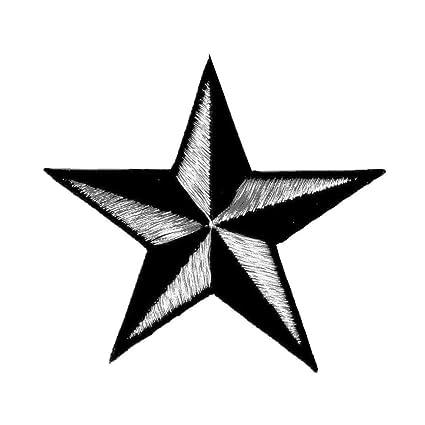 Amazoncom 5 Inch Red Black Nautical Star Patch Navigation
